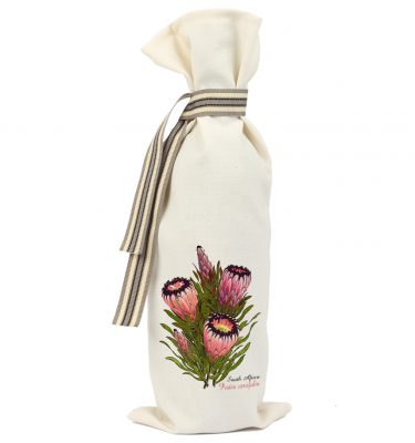 WINE BAG: WB11 Pink Oleander leaf