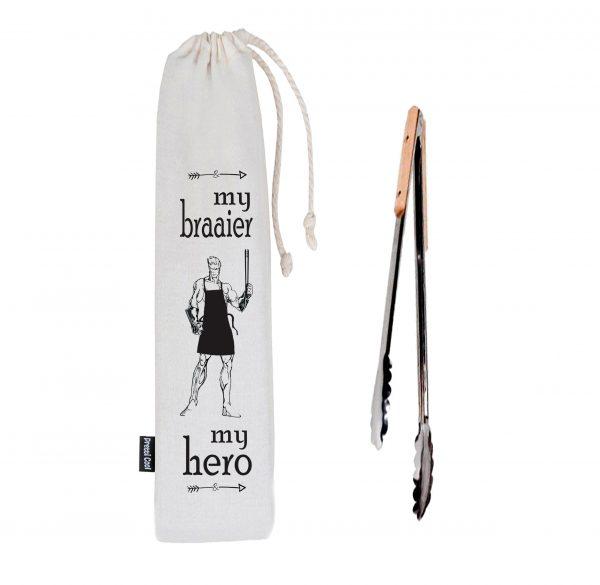 braai tong - my braaier my hero