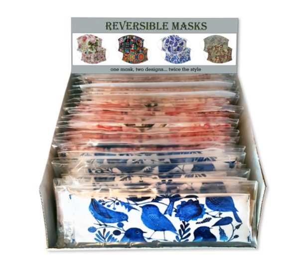 Reversible masks box