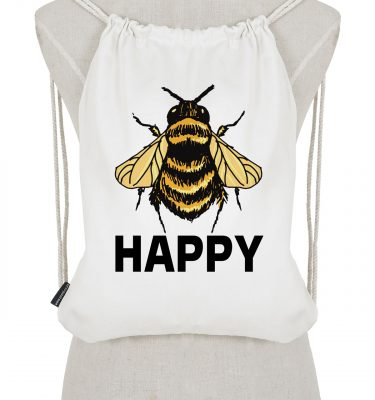 Drawstring Backpack: DB05 Bee Happy