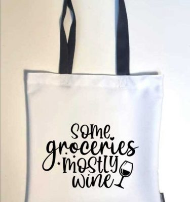 TOTE BAGS: TB07 Mostly Wine