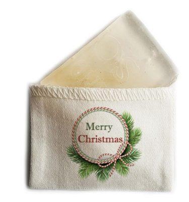 MINI SOAP: CMS03 Merry Christmas - Ribbon